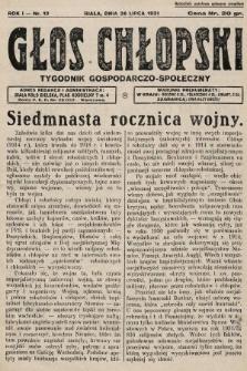 Głos Chłopski : tygodnik gospodarczo-społeczny. 1931, nr12