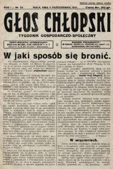 Głos Chłopski : tygodnik gospodarczo-społeczny. 1931, nr22