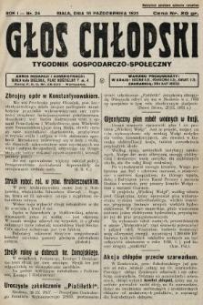 Głos Chłopski : tygodnik gospodarczo-społeczny. 1931, nr24