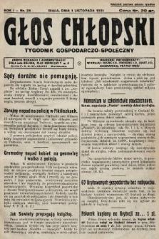 Głos Chłopski : tygodnik gospodarczo-społeczny. 1931, nr26