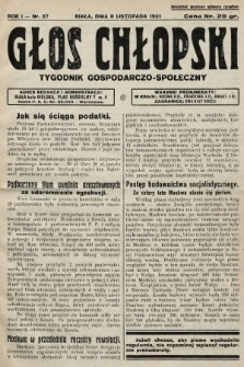 Głos Chłopski : tygodnik gospodarczo-społeczny. 1931, nr27