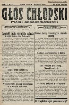 Głos Chłopski : tygodnik gospodarczo-społeczny. 1931, nr28