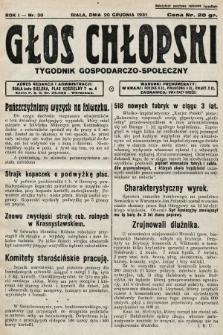 Głos Chłopski : tygodnik gospodarczo-społeczny. 1931, nr30