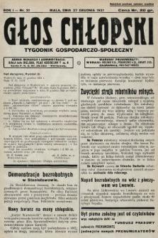 Głos Chłopski : tygodnik gospodarczo-społeczny. 1931, nr31