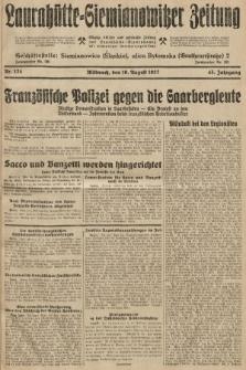 Laurahütte-Siemianowitzer Zeitung : enzige älteste und gelesenste Zeitung von Laurahütte-Siemianowitz mit wöchentlicher Unterhaitungsbeilage. 1927, nr124