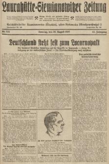 Laurahütte-Siemianowitzer Zeitung : enzige älteste und gelesenste Zeitung von Laurahütte-Siemianowitz mit wöchentlicher Unterhaitungsbeilage. 1927, nr133