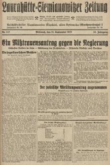 Laurahütte-Siemianowitzer Zeitung : enzige älteste und gelesenste Zeitung von Laurahütte-Siemianowitz mit wöchentlicher Unterhaitungsbeilage. 1927, nr147