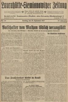 Laurahütte-Siemianowitzer Zeitung : enzige älteste und gelesenste Zeitung von Laurahütte-Siemianowitz mit wöchentlicher Unterhaitungsbeilage. 1927, nr149