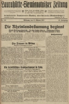 Laurahütte-Siemianowitzer Zeitung : enzige älteste und gelesenste Zeitung von Laurahütte-Siemianowitz mit wöchentlicher Unterhaitungsbeilage. 1927, nr159