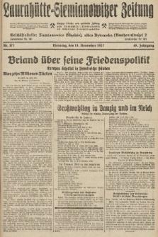 Laurahütte-Siemianowitzer Zeitung : enzige älteste und gelesenste Zeitung von Laurahütte-Siemianowitz mit wöchentlicher Unterhaitungsbeilage. 1927, nr177