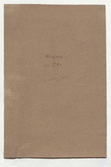 Cahier IVc (Manuskripttitel)