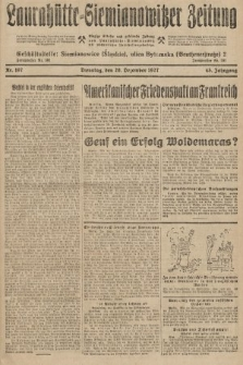 Laurahütte-Siemianowitzer Zeitung : enzige älteste und gelesenste Zeitung von Laurahütte-Siemianowitz mit wöchentlicher Unterhaitungsbeilage. 1927, nr197