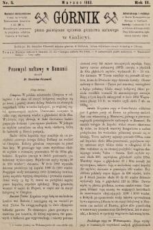 Górnik : pismo poświęcone sprawom górnictwa naftowego w Galicyi. 1883, nr5
