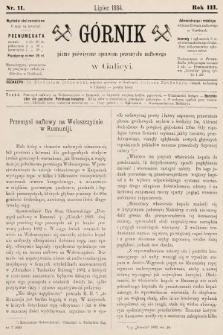 Górnik : pismo poświęcone sprawom górnictwa naftowego w Galicyi. 1884, nr11