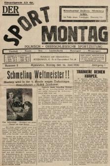 Der Sport - Montag : Polnisch - Oberschlesische Sportzeitung. 1930, nr2