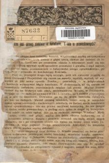 Odpowiedzi Katolickie. 1906, nr1 : Kto jest głową Kościoła u katolików, a kto u prawosławnych?