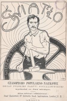 Światło : czasopismo popularno-naukowe : organ Polskiej Partyi Socyalistycznej. 1902, nr13