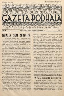 Gazeta Podhala : dwutygodnik poświęcony sprawom Podhala, Spisza i Orawy. 1936, nr 4