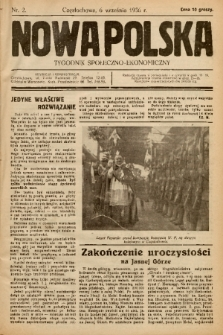 Nowa Polska : tygodnik społeczno-ekonomiczny. 1936, nr 2