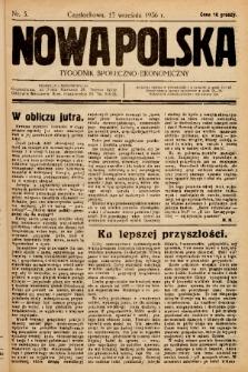 Nowa Polska : tygodnik społeczno-ekonomiczny. 1936, nr 3
