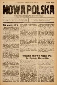 Nowa Polska : tygodnik społeczno-ekonomiczny. 1936, nr 4