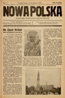 Nowa Polska : tygodnik społeczno-ekonomiczny. 1936, nr 5