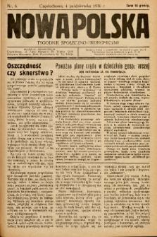 Nowa Polska : tygodnik społeczno-ekonomiczny. 1936, nr 6