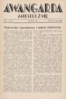 Awangarda : miesięcznik. 1932, nr3