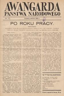 Awangarda Państwa Narodowego. 1934, nr12