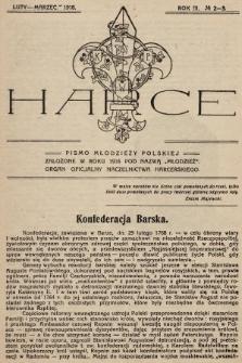 Harce : pismo młodzieży polskiej : organ oficjalny Naczelnictwa Harcerskiego. 1918, nr2-3