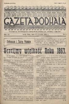 Gazeta Podhala : tygodnik poświęcony sprawom Podhala, Spisza i Orawy. 1938, nr 3