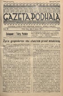 Gazeta Podhala : tygodnik poświęcony sprawom Podhala, Spisza i Orawy. 1938, nr 9