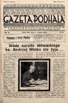 Gazeta Podhala : tygodnik poświęcony sprawom Podhala, Spisza i Orawy. 1938, nr 33