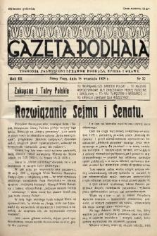 Gazeta Podhala : tygodnik poświęcony sprawom Podhala, Spisza i Orawy. 1938, nr 37