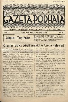 Gazeta Podhala : tygodnik poświęcony sprawom Podhala, Spisza i Orawy. 1938, nr 38