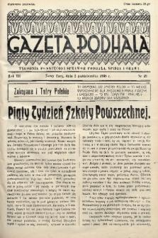 Gazeta Podhala : tygodnik poświęcony sprawom Podhala, Spisza i Orawy. 1938, nr 39