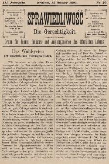 Sprawiedliwość = Die Gerechtigkeit : Organ für Handel, Industrie und Angelegenheiten des öffentlichen Lebens. 1895, nr20