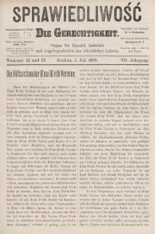 Sprawiedliwość = Die Gerechtigkeit : Organ für Handel, Industrie und Angelegenheiten des öffentlichen Lebens. 1899, nr12 i 13