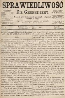 Sprawiedliwość = Die Gerechtigkeit : Organ für oeconomische, culturelle u. politische Interessen der Juden in Galizien. 1901, nr5
