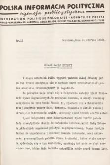 Polska Informacja Polityczna : agencja publicystyczna = Information Politique Polonaise : agence de presse. 1936, nr12
