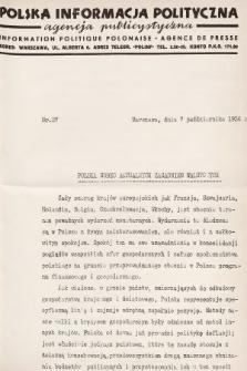 Polska Informacja Polityczna : agencja publicystyczna = Information Politique Polonaise : agence de presse. 1936, nr27