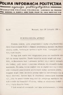 Polska Informacja Polityczna : agencja publicystyczna = Information Politique Polonaise : agence de presse. 1936, nr34