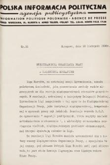 Polska Informacja Polityczna : agencja publicystyczna = Information Politique Polonaise : agence de presse. 1936, nr35