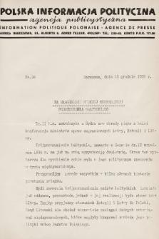 Polska Informacja Polityczna : agencja publicystyczna = Information Politique Polonaise : agence de presse. 1936, nr38