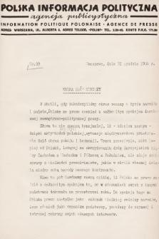 Polska Informacja Polityczna : agencja publicystyczna = Information Politique Polonaise : agence de presse. 1936, nr39