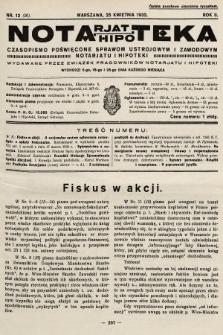 Notarjat-Hipoteka : czasopismo poświęcone sprawom ustrojowym i zawodowym notarjatu i hipoteki. 1932, nr12