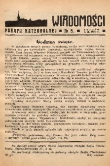 Wiadomości Parafii Katedralnej. 1937, nr 5