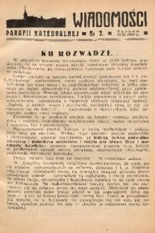 Wiadomości Parafii Katedralnej. 1937, nr 7