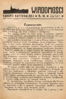 Wiadomości Parafii Katedralnej. 1937, nr 10