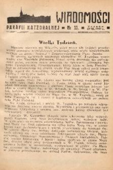 Wiadomości Parafii Katedralnej. 1937, nr 11
